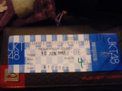 tiket theater jkt48 renai kinshi jurei